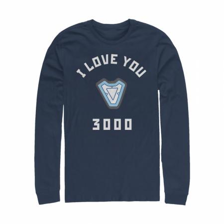 Marvel I Love You 3000 Iron Man Reactor Long Sleeve Shirt