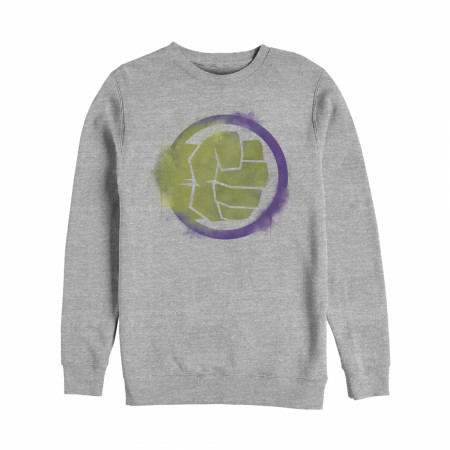 The Incredible Hulk Painted Logo Crewneck Sweatshirt