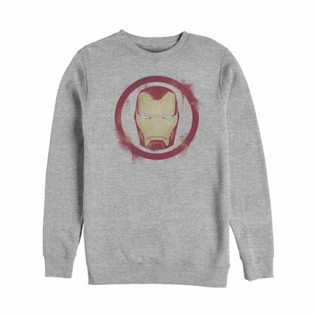 Iron Man Painted Logo Crewneck Sweatshirt