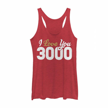 Iron Man I Love You 3000 Women's Racerback Tank Top