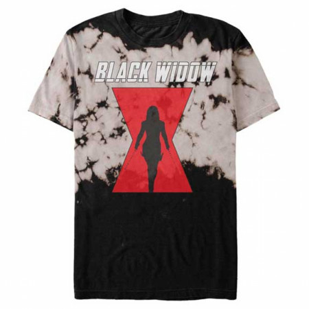 Black Widow Movie Symbol Tie-Dye T-Shirt