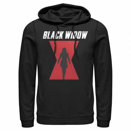 Black Widow Silhouette Logo Hoodie