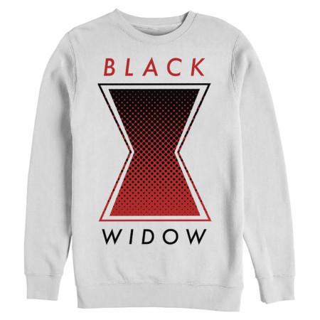 Black Widow Logo White Crewneck Sweatshirt