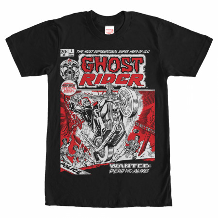 Ghost Rider Comic Book Cover Print T-Shirt