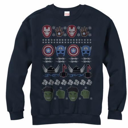 The Avengers Heroes Ugly Christmas Sweatshirt