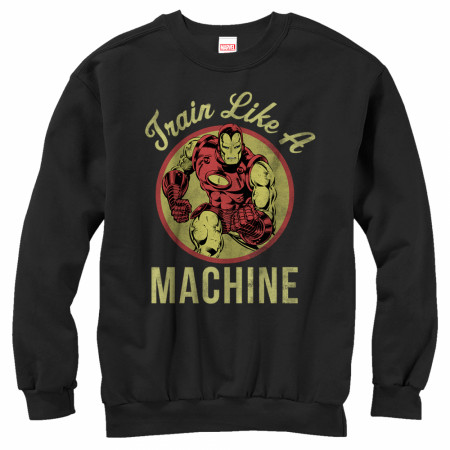 Iron Man Train Like a Machine Sweatshirt