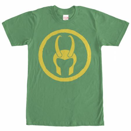 Avengers Loki Helmet Green Mens T-Shirt