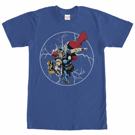 Thor Bill Lightning Men's Blue T-Shirt