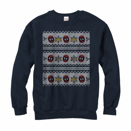 Deadpool Tacos Ugly Christmas Sweater Design Sweatshirt