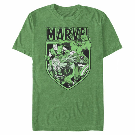 Avengers Marvel Heroes Green T-Shirt