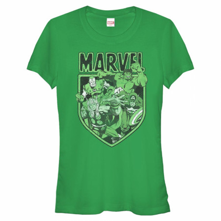 Avengers Marvel Heroes Women's Green T-Shirt