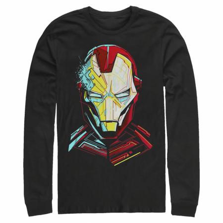 Iron Man Helmet Art Long Sleeve Shirt