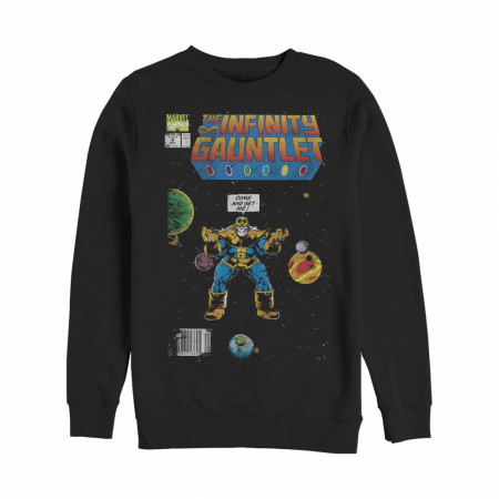 Marvel Thanos Infinity Gauntlet Comic Book Sweatshirt