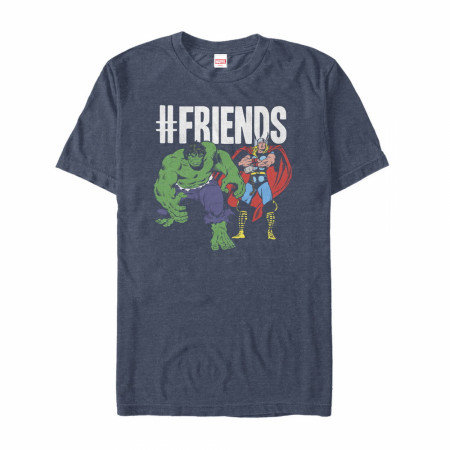 Thor and Hulk Hashtag Friends T-Shirt