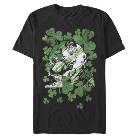 Hulk Clovers Black T-Shirt