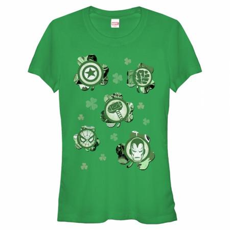 Avengers Logos Shamrocks Women's Green T-Shirts