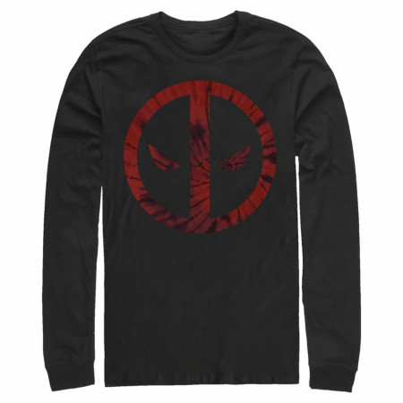 Deadpool Tie Dye Logo Long Sleeve Shirt