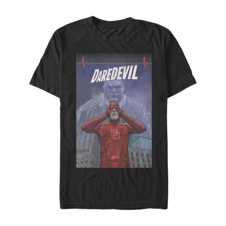 Daredevil Men's Black Comic Cover T-Shirt