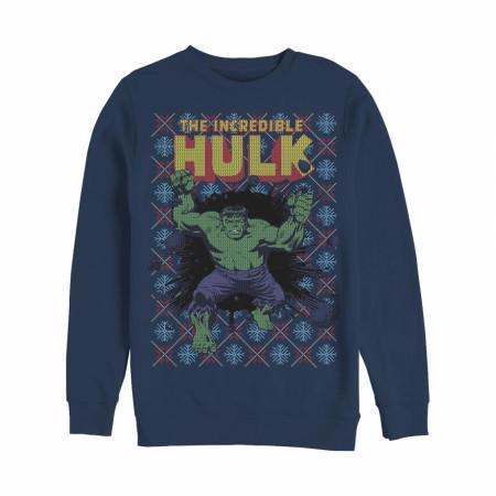 Hulk Ugly Christmas Sweater Design Sweatshirt