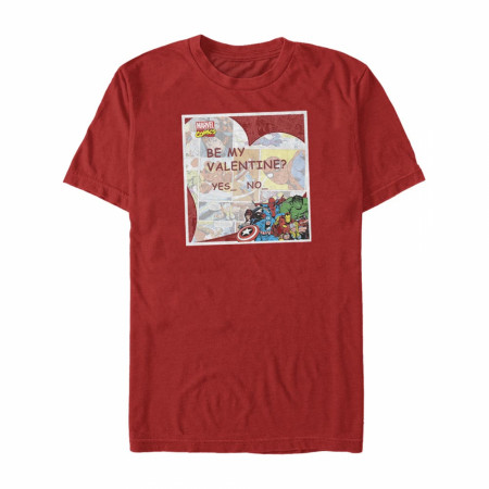 Avengers Be My Valentine Red T-Shirt