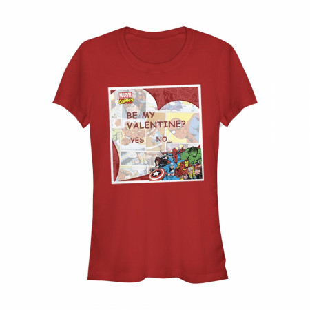 Avengers Be My Valentine Women's Red T-Shirt