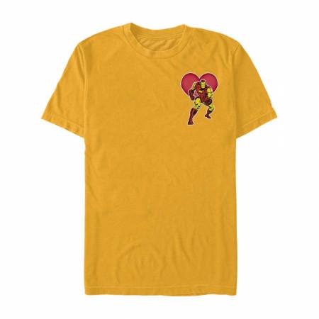 Iron Man Heart Gold T-Shirt