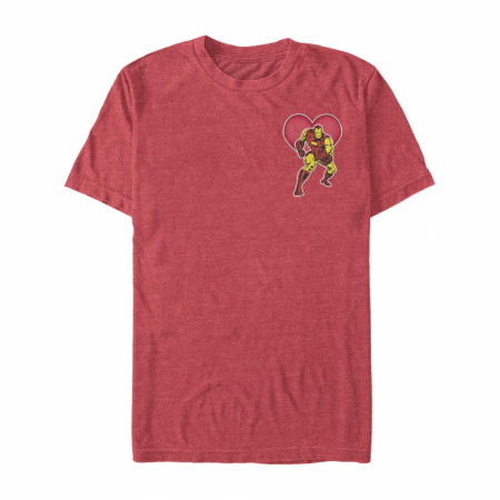 Iron Man Heart Red T-Shirt
