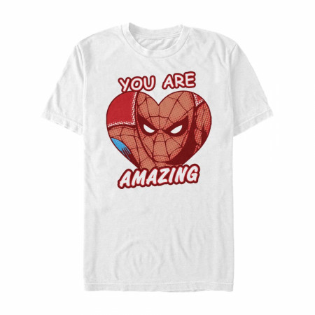 Spider-Man You Are Amazing Heart White T-Shirt