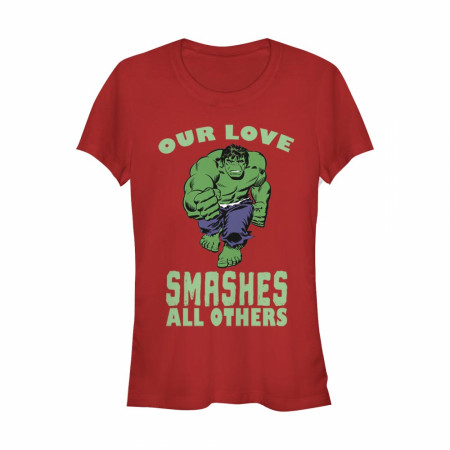 Hulk Our Love Smashes All Others Women's Red T-Shirt