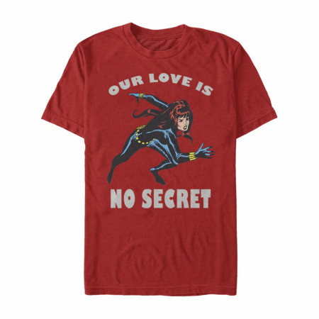 Black Widow Our Love Is No Secret Red T-Shirt