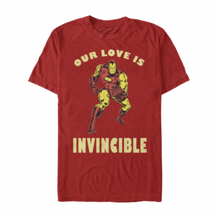 Iron Man Our Love is Invincible Red T-Shirt
