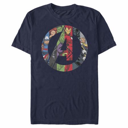 Avengers Marvel Heroes Logo T-Shirt