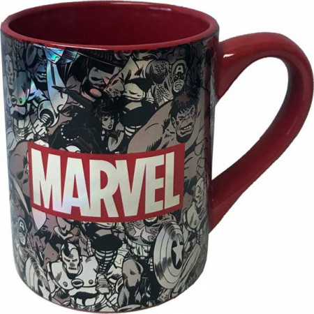 Marvel Comics Black and White Brink Logo Mug