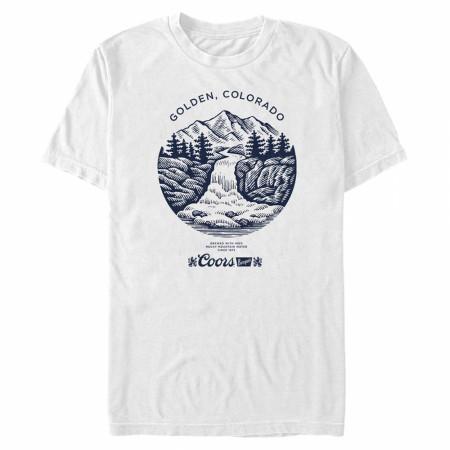 Coors Banquet Beer Golden Colorado Mountains Logo T-Shirt