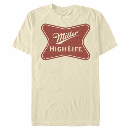 Miller High Life Logo on Cream T-Shirt