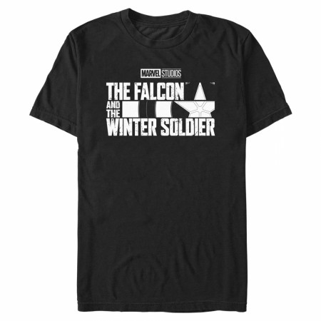 The Falcon and The Winter Soldier Black and White Logo T-Shirt