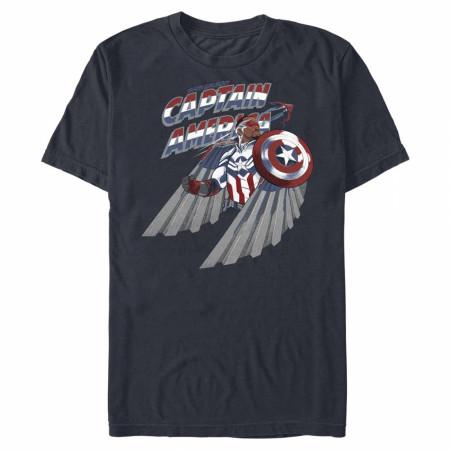 Captain America Sam Wilson Portrait T-Shirt