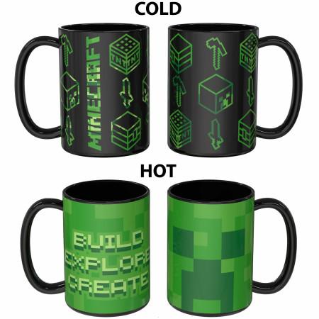 Minecraft Symbols and Logos Color Change Ceramic Mug