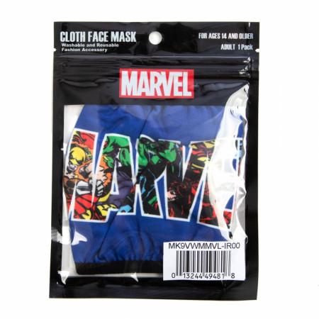 Marvel Logo Adjustable Face Cover