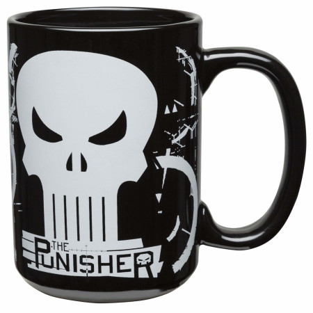 The Punisher Marvel Character and Symbol Ceramic Mug