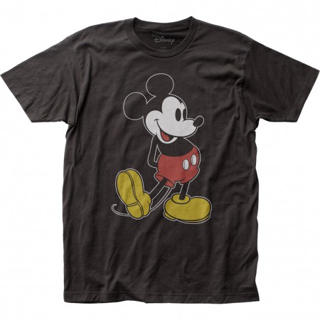Mickey Mouse Men's Black Classic Pose T-Shirt