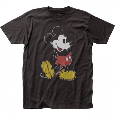 Mickey Mouse Men's Black Classic Pose T-Shirt