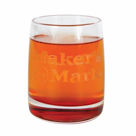 Maker's Mark Whiskey Red Vibe Rocks 12oz Glass