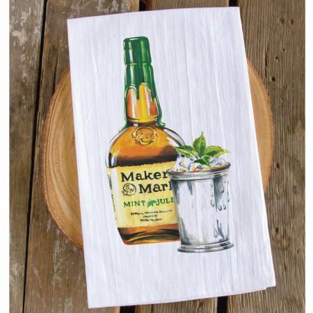 Maker's Mark Whiskey Mint Julep Bar Towel