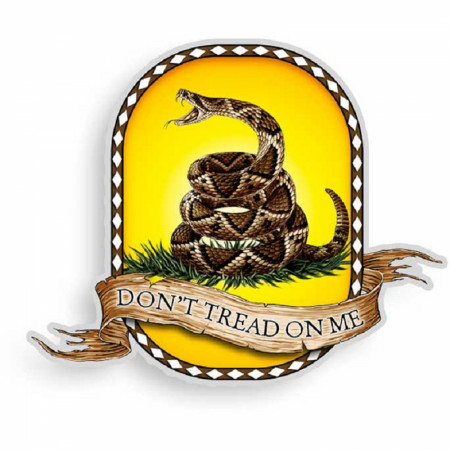 Don't Tread On Me Decal Sticker