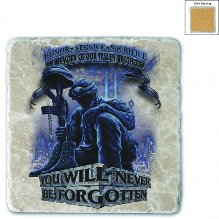 Soldier You Will Never Be Forgotten Stone Coaster