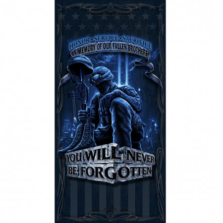 Patriotic Never Forget Beach Towel
