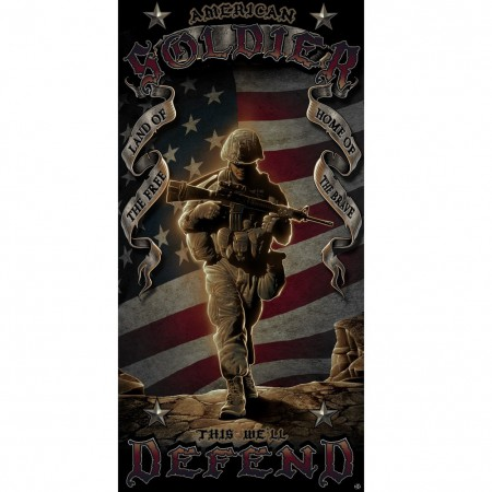 Patriotic American Solider Beach Towel