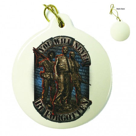 Vietnam Soldier Never Forget Porcelain Ornament