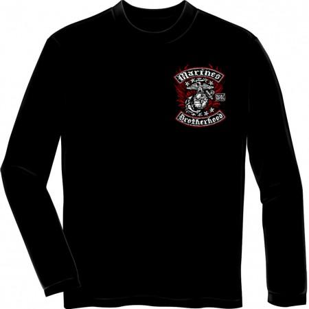 USMC Marines Brothershood Black Long Sleeve T-Shirt